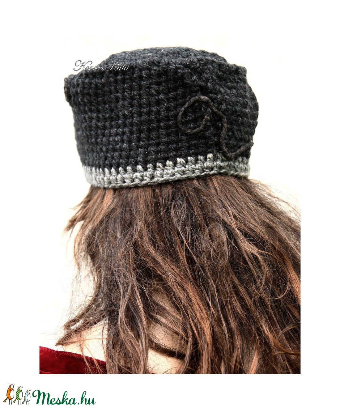 CINTHIA - elegáns horgolt kalap  - ruha & divat - sál, sapka, kendő - kalap - Meska.hu