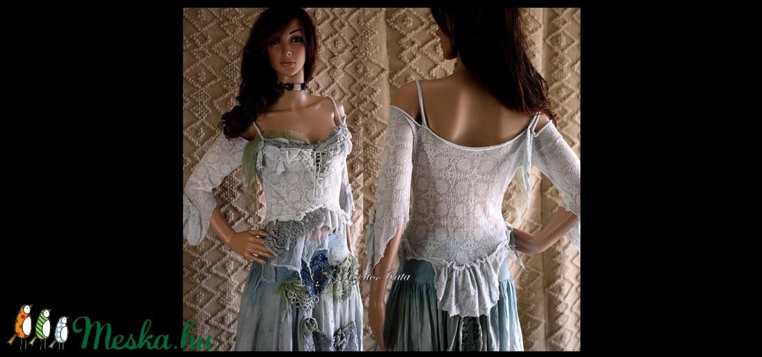 ANTOINETTE - shabby chic nimfa-top  - ruha & divat - női ruha - póló, felső - Meska.hu