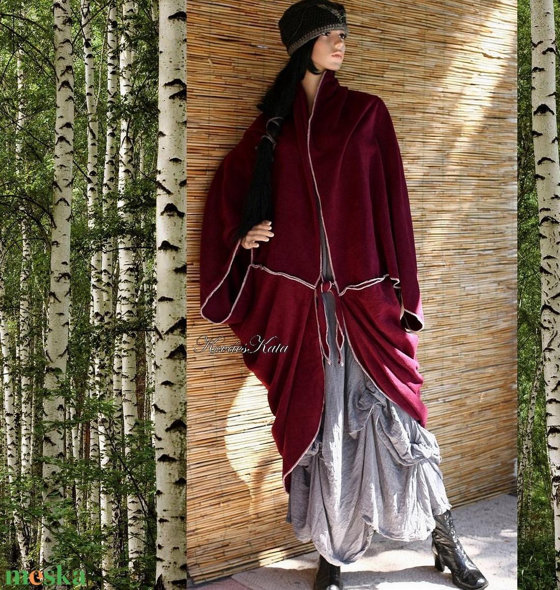 POLÁR PELERIN - mindennek a tetejére! - ruha & divat - női ruha - kabát - Meska.hu