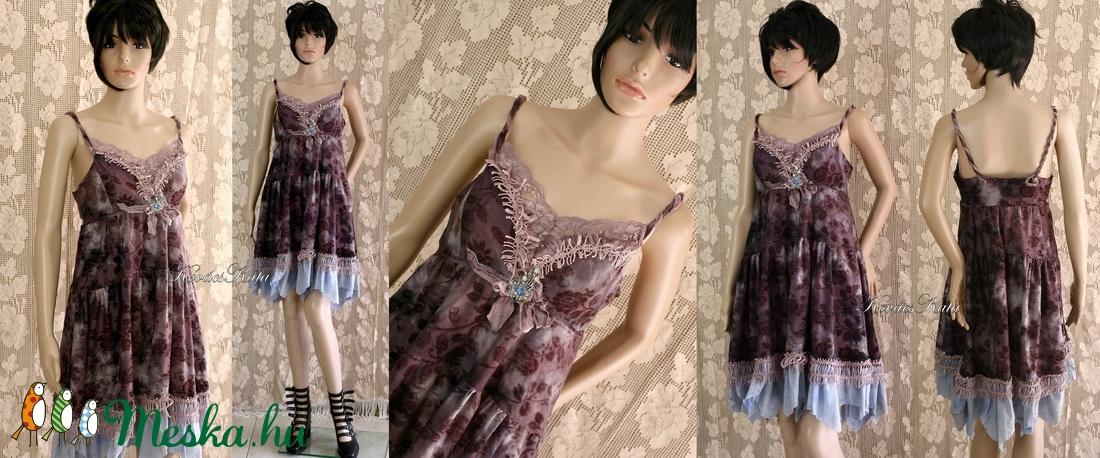 DETTY - romantikus jersey-ruha - ruha & divat - női ruha - ruha - Meska.hu