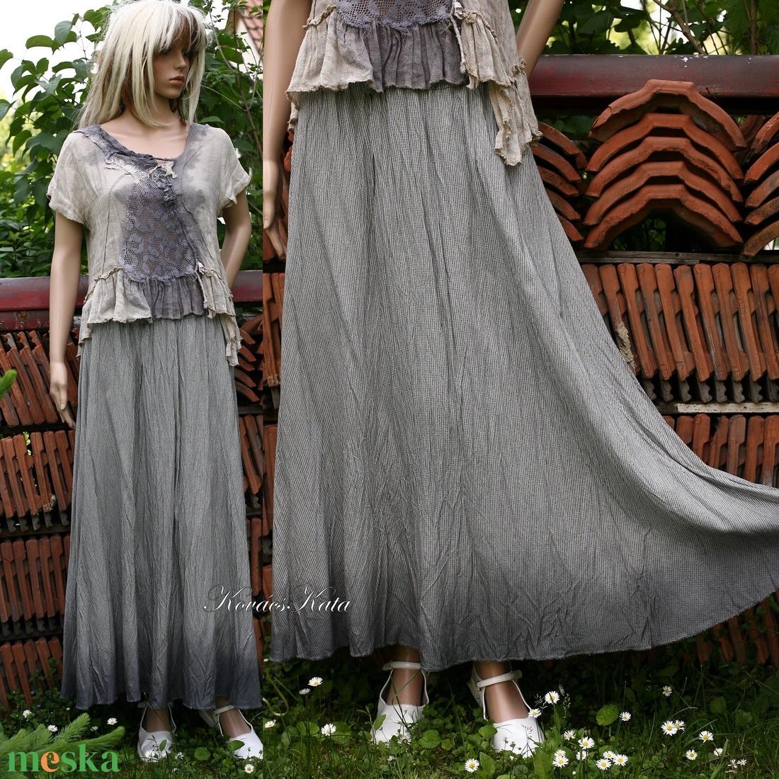 KORMOS - lagenlook selyemszoknya - ruha & divat - női ruha - szoknya - Meska.hu