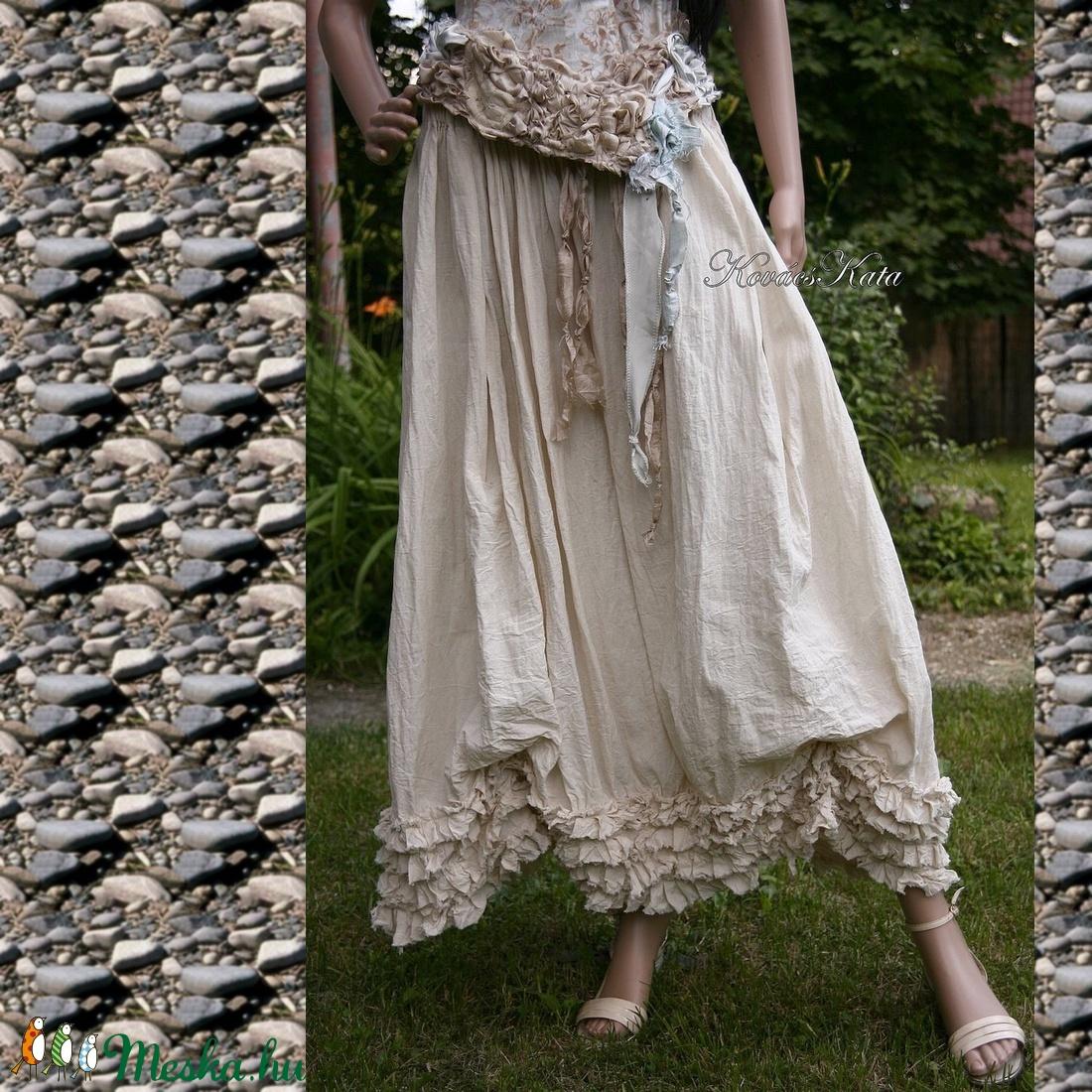 LENKE - lagenlook design szoknya  SZÍNEKBEN RENDELHETŐ! - ruha & divat - női ruha - szoknya - Meska.hu