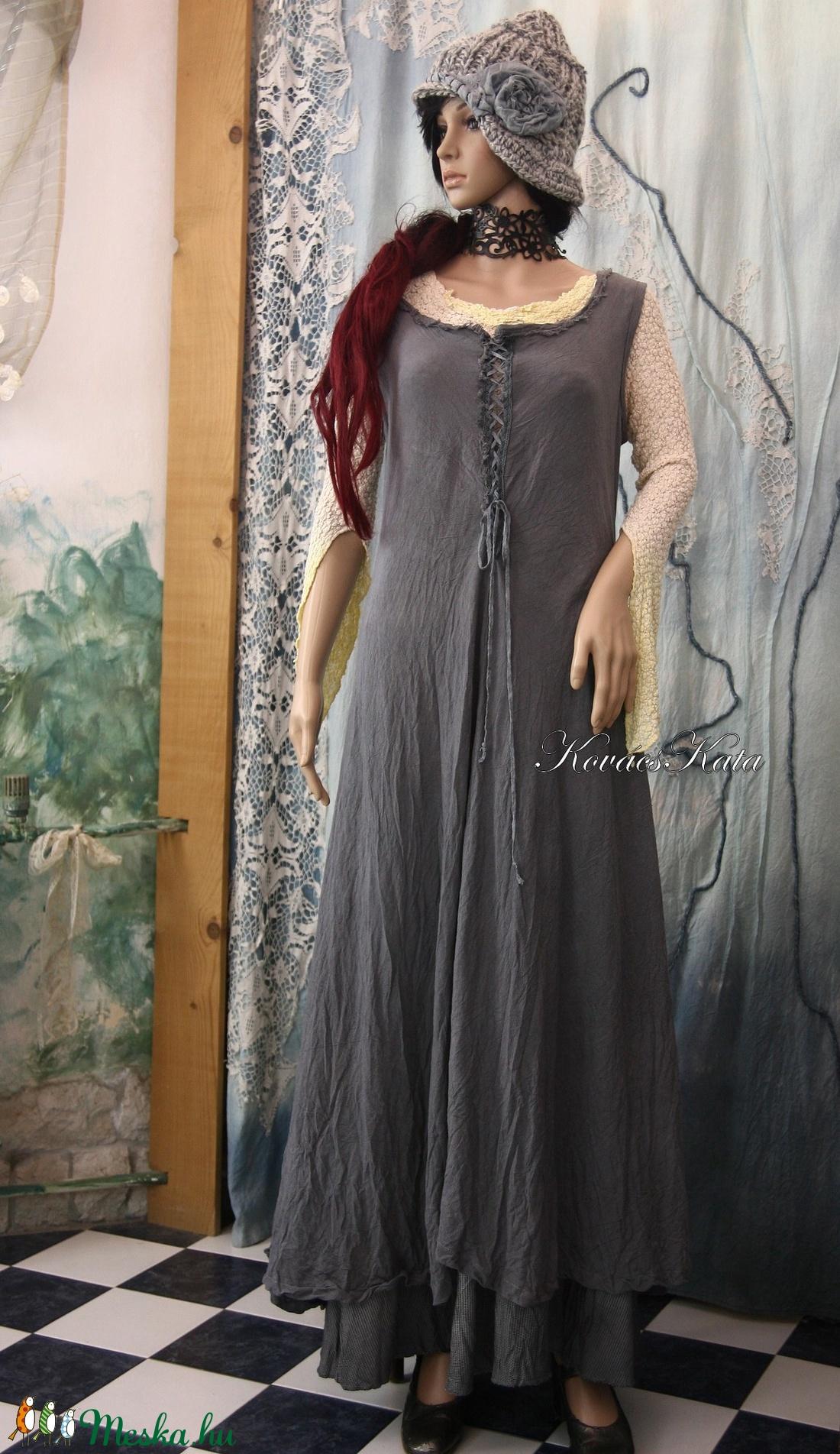 SZÜRKE  kirtle  - romantikus design-ruha - ruha & divat - női ruha - ruha - Meska.hu