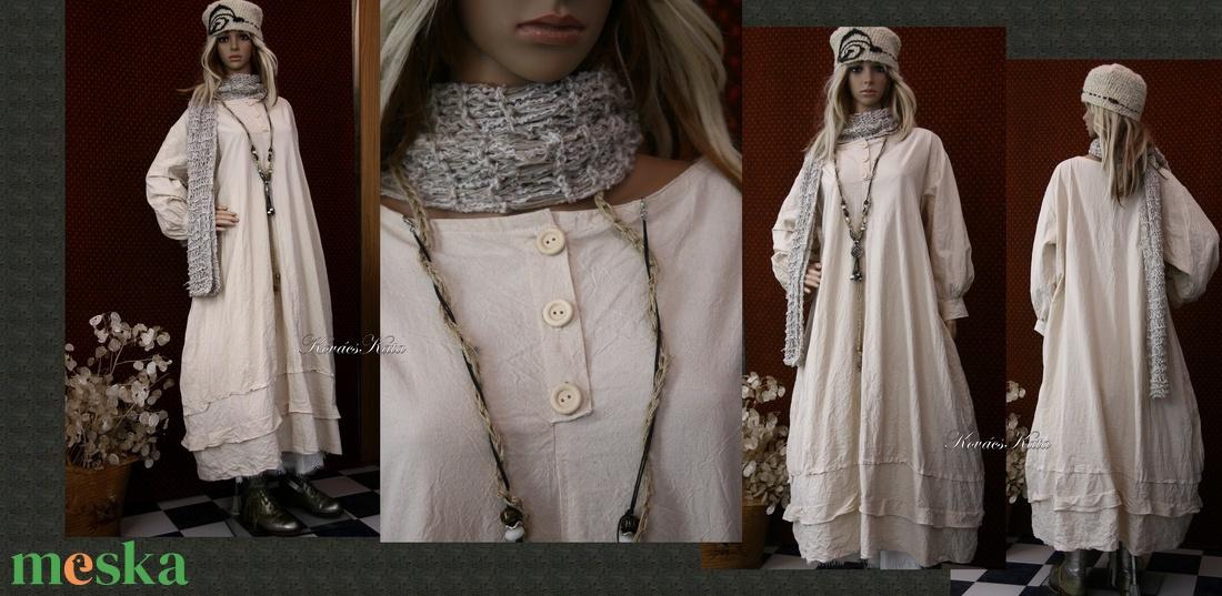 ELMA - kézműves lagenlook ingruha / nyers - ruha & divat - női ruha - ruha - Meska.hu