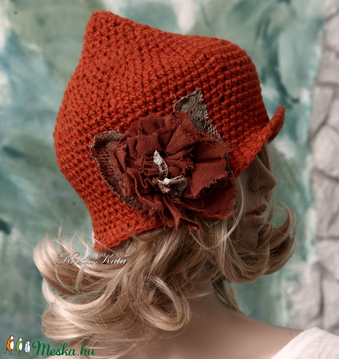 HAGYMÁCSKA - kézműves gyapjú-kalapka  - ruha & divat - sál, sapka, kendő - sapka - Meska.hu