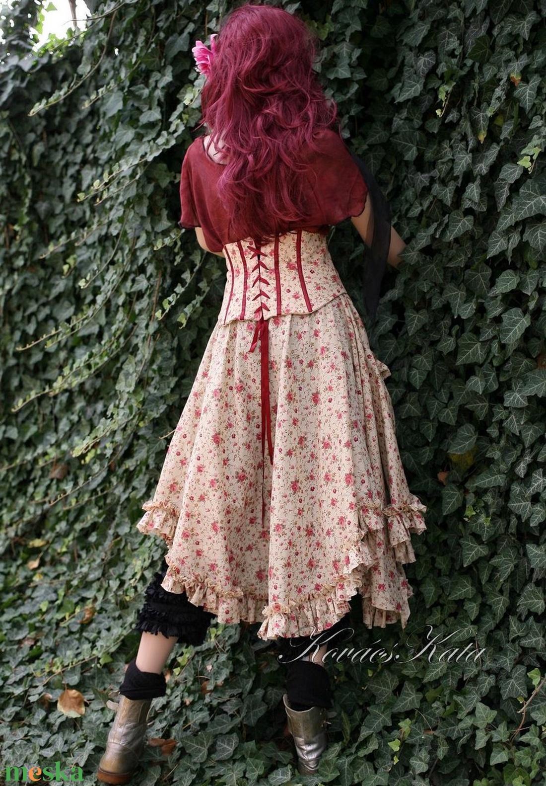 CINDERELLA - romantikus derék-fűzős szoknya - ruha & divat - női ruha - szoknya - Meska.hu