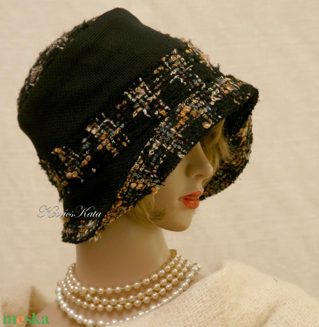 FANNI cloche - exkluzív design kalap - ruha & divat - sál, sapka, kendő - kalap - Meska.hu