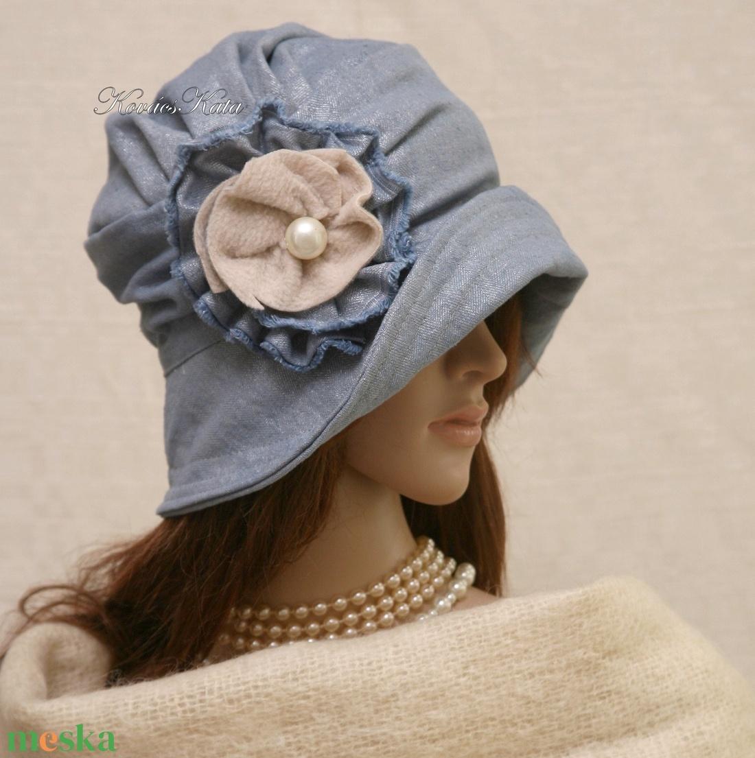 ERNA cloche - romantikus flapper kalap - ruha & divat - sál, sapka, kendő - kalap - Meska.hu