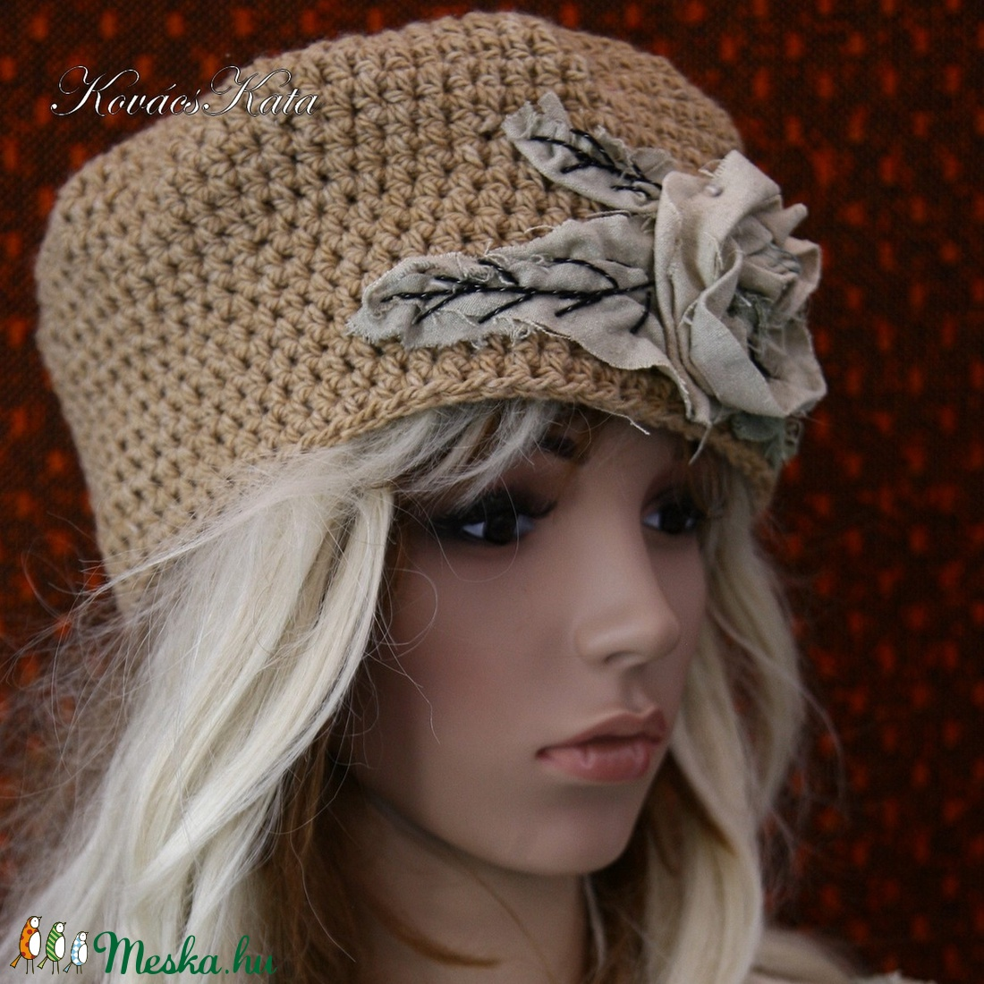 LAURA - horgolt design-kalapka - ruha & divat - sál, sapka, kendő - sapka - Meska.hu