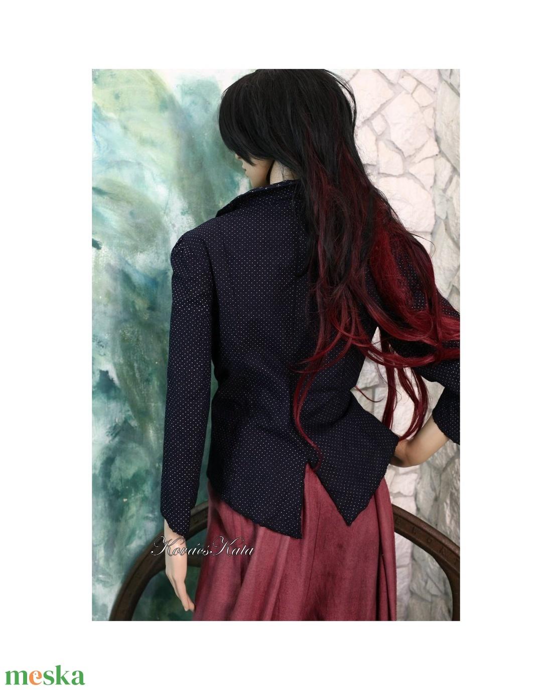 DIANA - vintage kékfestő kabátka  - ruha & divat - női ruha - blézer & kosztüm - Meska.hu