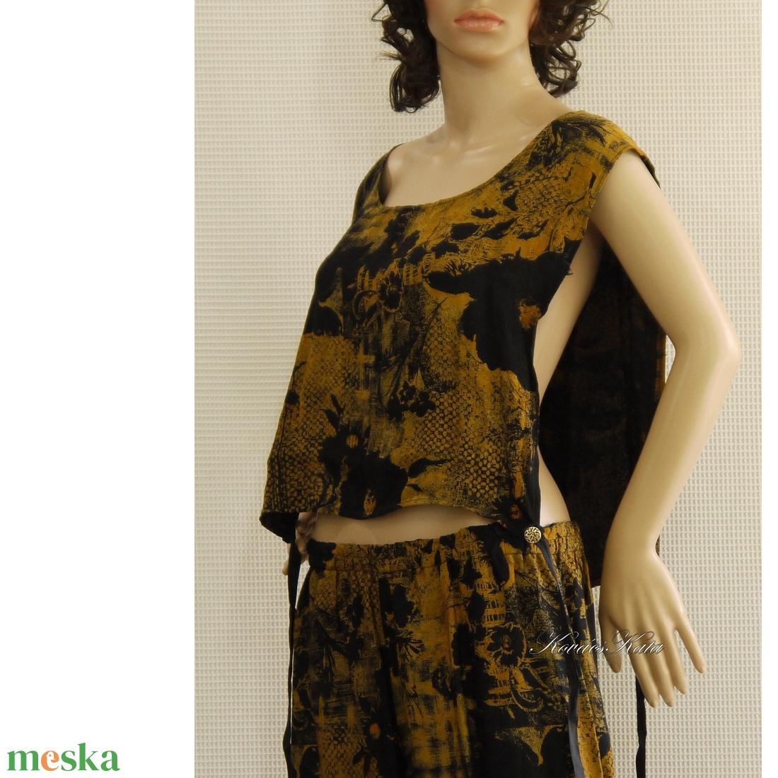 TITKOK KERTJE - design selyem nadrág toppal - ruha & divat - női ruha - ruha - Meska.hu