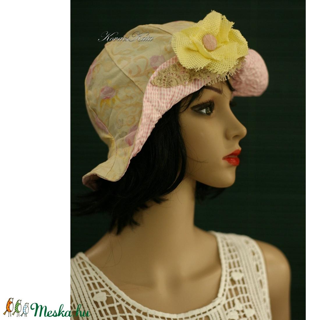 MELINA - nyári vászon kalap - ruha & divat - sál, sapka, kendő - kalap - Meska.hu