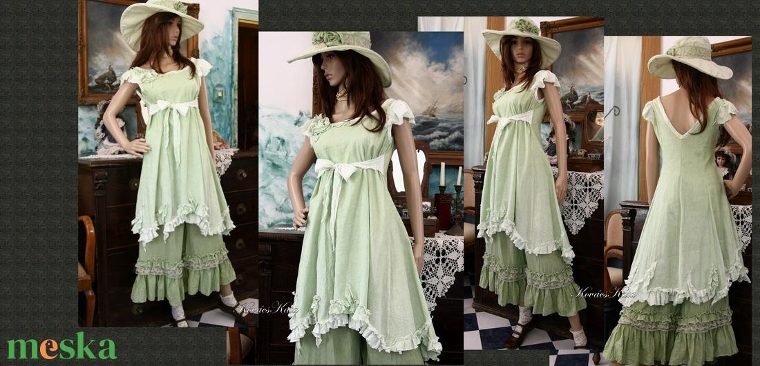 OPHELIA / zöld - shabby chic princessz-ruha  - ruha & divat - női ruha - ruha - Meska.hu