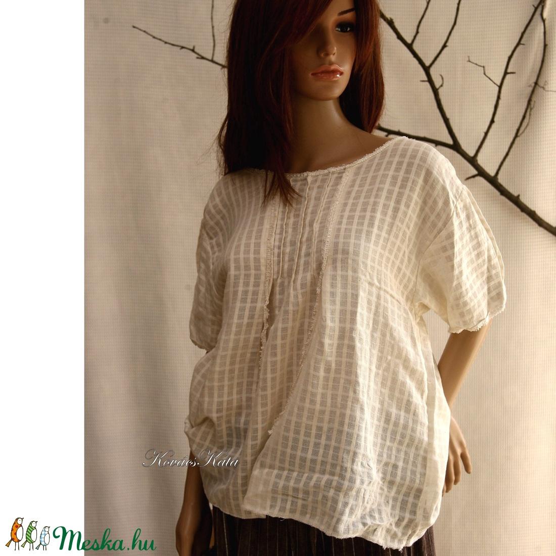 ILKA - romantikus design blúz  - ruha & divat - női ruha - blúz - Meska.hu