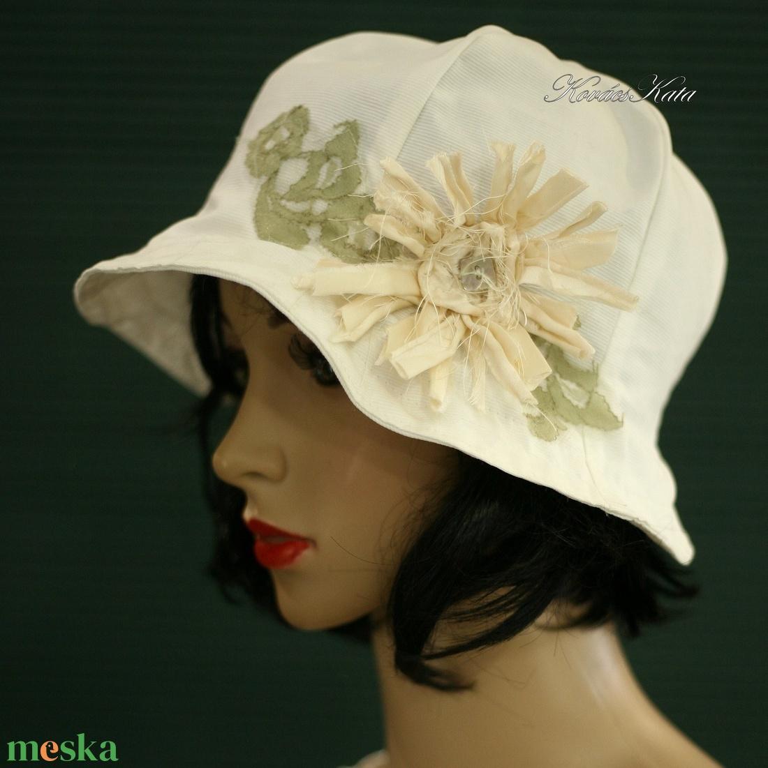 BELLA - romantikus nyári kalap - ruha & divat - sál, sapka, kendő - kalap - Meska.hu
