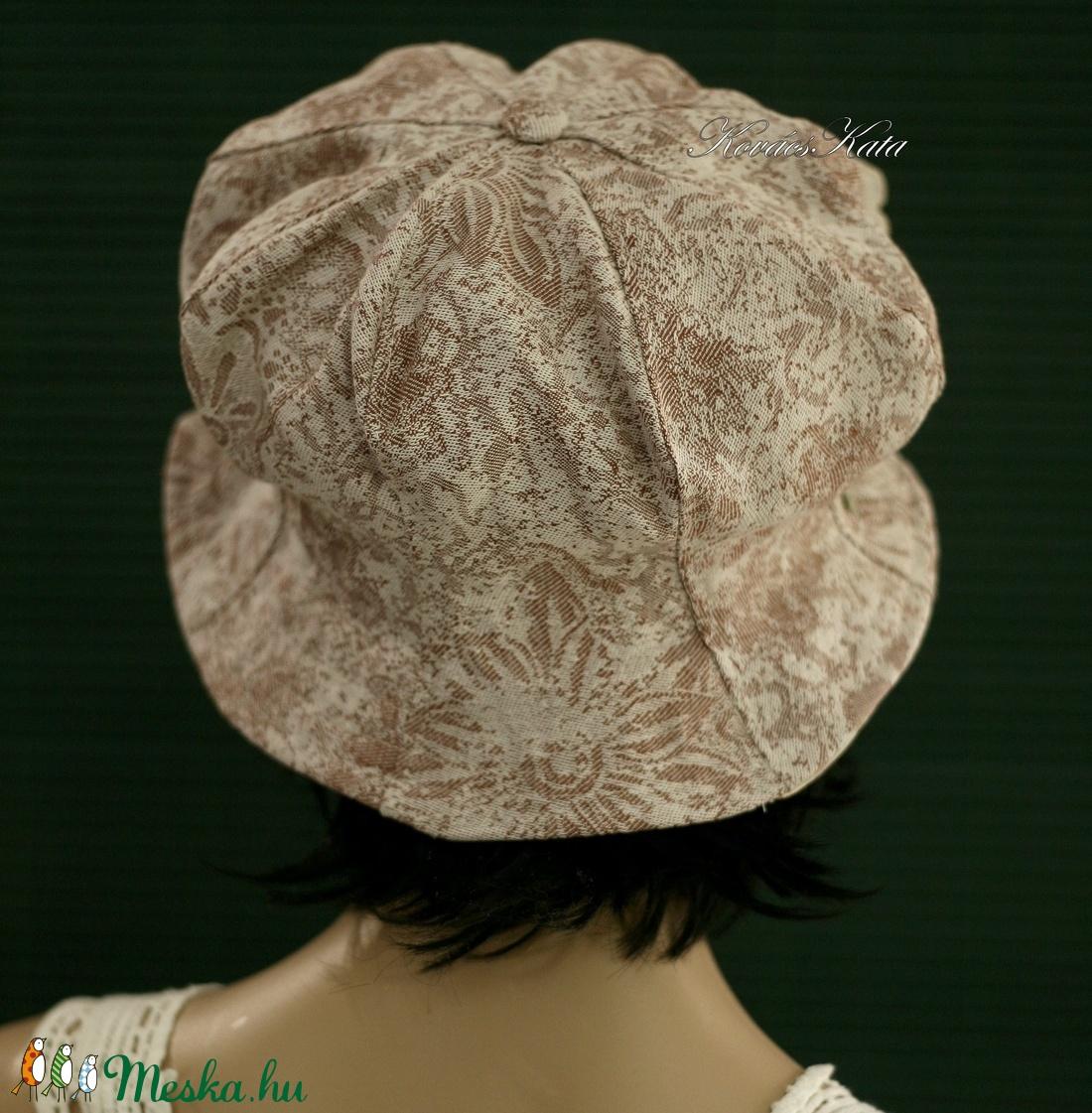 GEMMA - romantikus kalap / virágmintás - ruha & divat - sál, sapka, kendő - kalap - Meska.hu