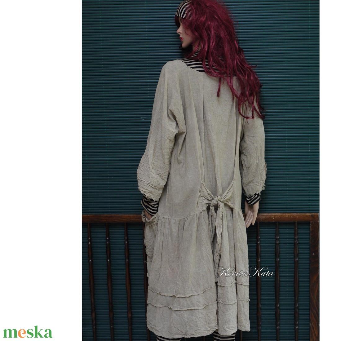 IBI-RUHA / földszínek - artsy lagenlook flapper-ruha  - ruha & divat - női ruha - ruha - Meska.hu
