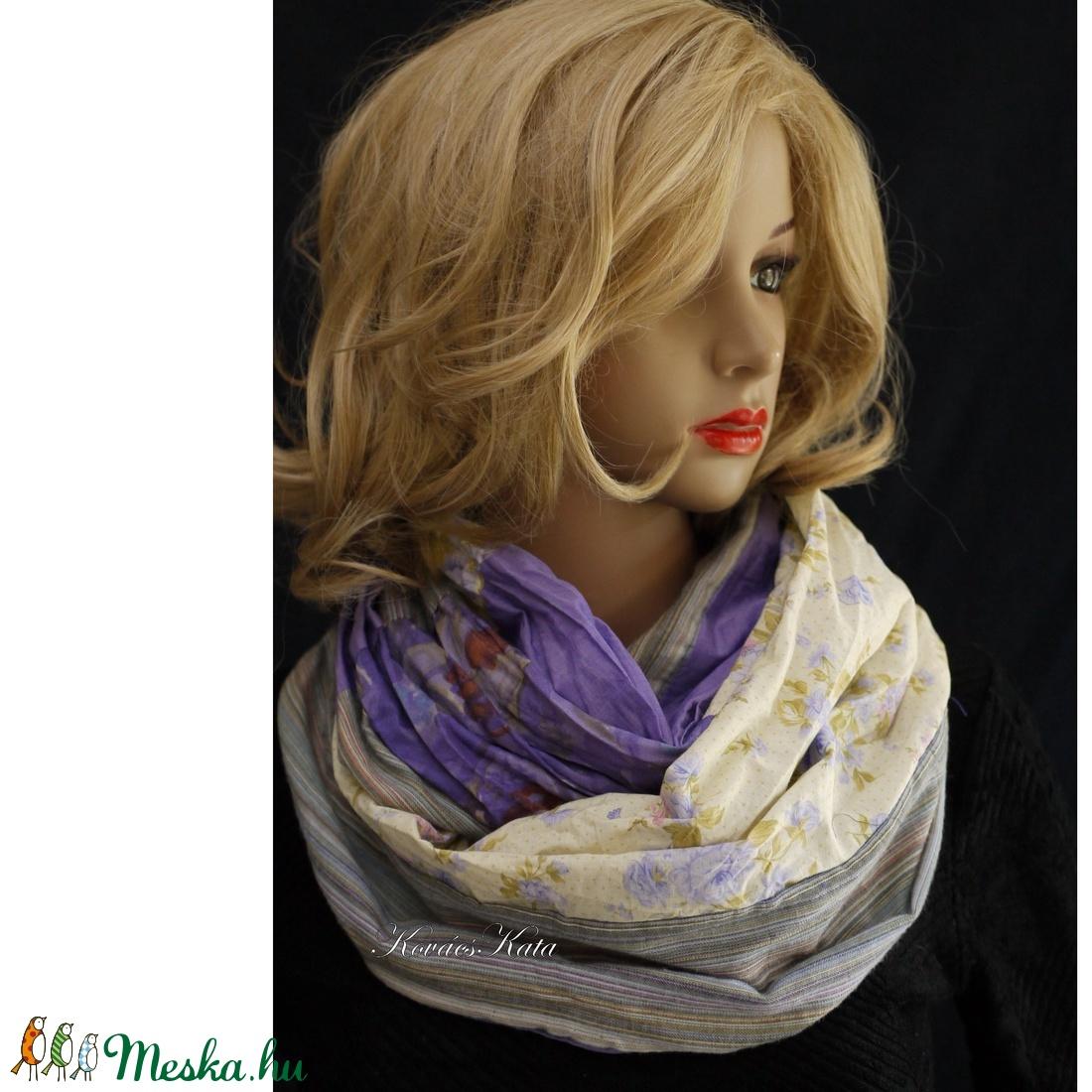 INFINITY / kikelet - patchwork csősál , körsál - ruha & divat - sál, sapka, kendő - sál - Meska.hu