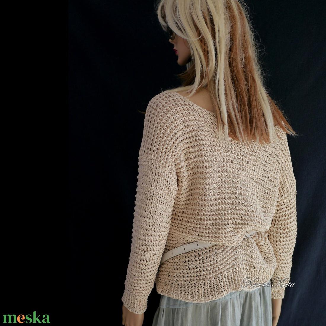 BELLE / kézzel kötött pulóver - ruha & divat - női ruha - pulóver & kardigán - Meska.hu