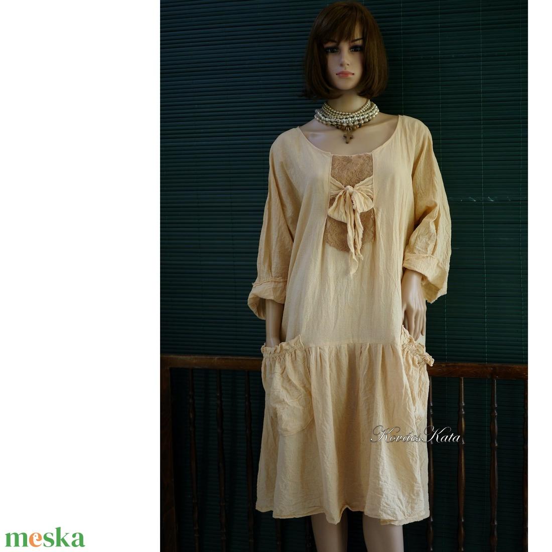 IBI -RUHA / pasztellek - artsy lagenlook flapper-ruha  - ruha & divat - női ruha - ruha - Meska.hu