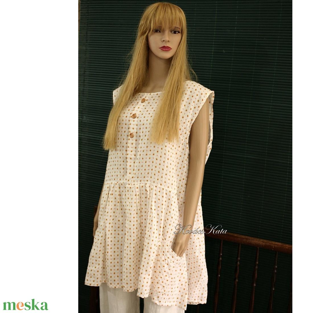 BABYDOLL- lagenlook lenvászon-ruha - ruha & divat - női ruha - ruha - Meska.hu