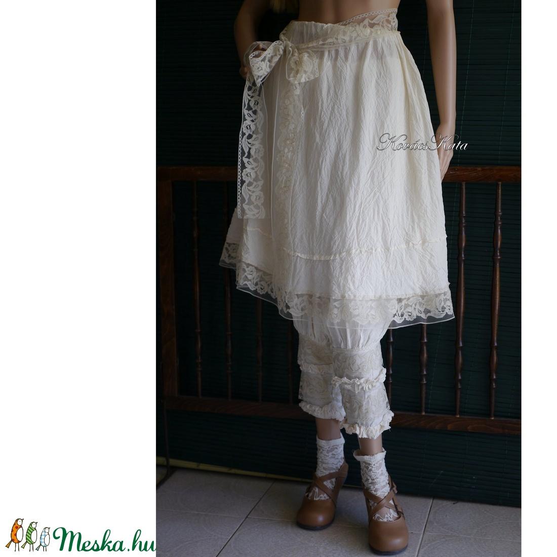 RÓZA - romantikus szoknya, alsószoknya csipkeszalaggal - ruha & divat - női ruha - szoknya - Meska.hu