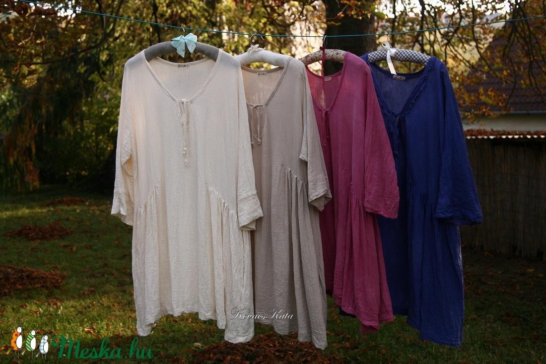 PAULA XXL - színekben rendelhető lagenlook vászon tunika - ruha & divat - női ruha - tunika - Meska.hu