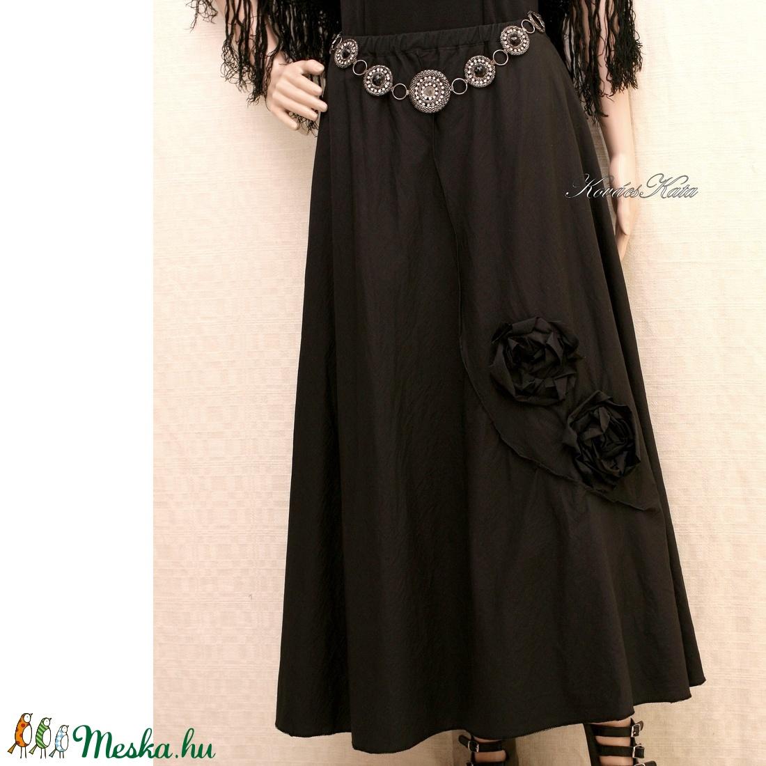 HETTY - applikált design-szoknya  - ruha & divat - női ruha - szoknya - Meska.hu