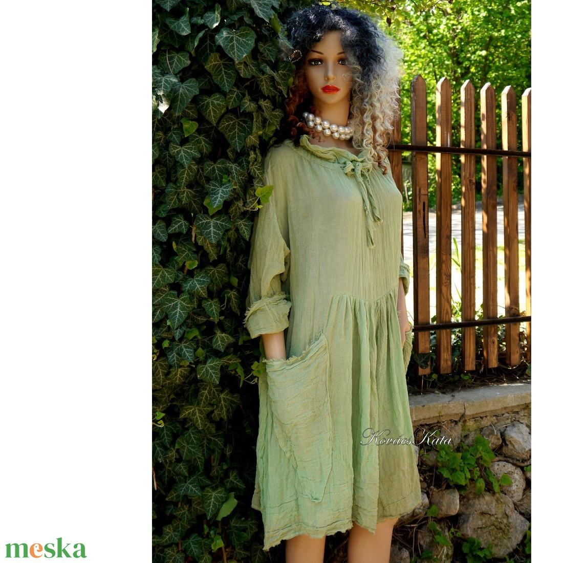 ANTHEA - lagenlook babydoll-ruha / borsóhéj  - ruha & divat - női ruha - ruha - Meska.hu