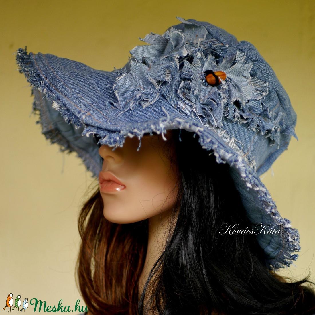 BELINDA - romantikus design kalap - bohém farmer-kalap   - ruha & divat - sál, sapka, kendő - kalap - Meska.hu