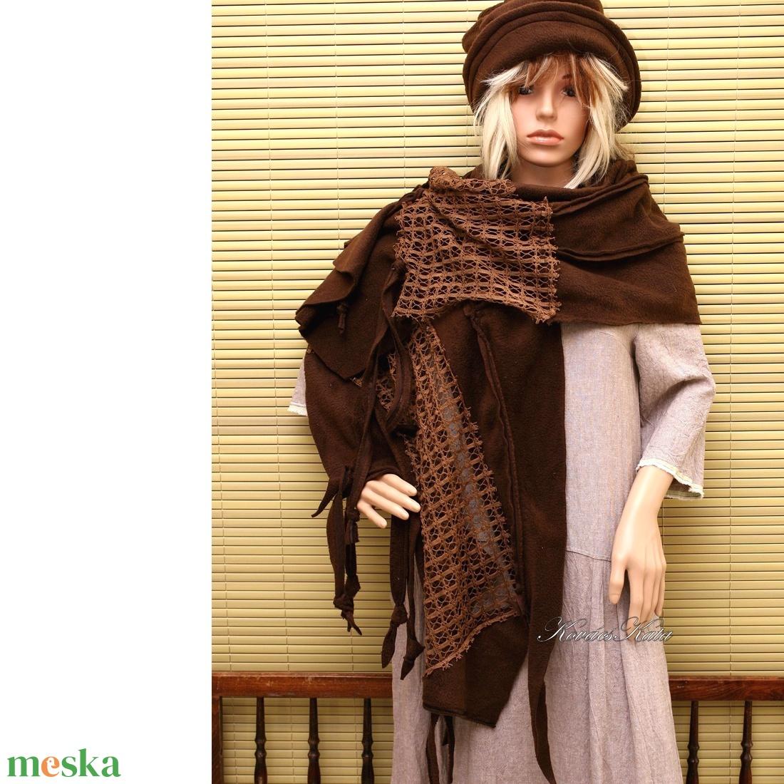 PASKA-STÓLA / csoki- patchwork design - ruha & divat - sál, sapka, kendő - stóla - Meska.hu