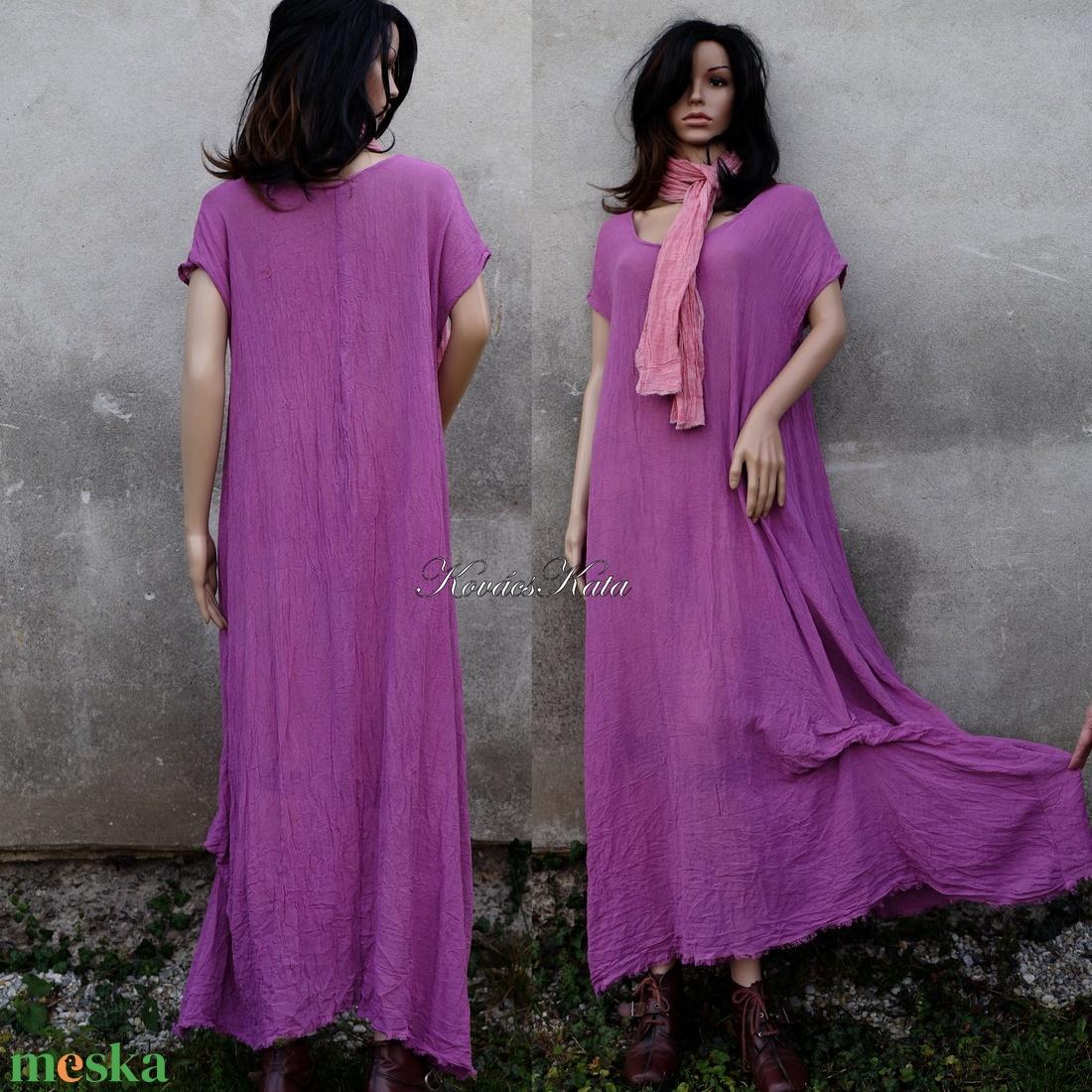 KIM / magenta - lagenlook design ruha XXL - ruha & divat - női ruha - ruha - Meska.hu
