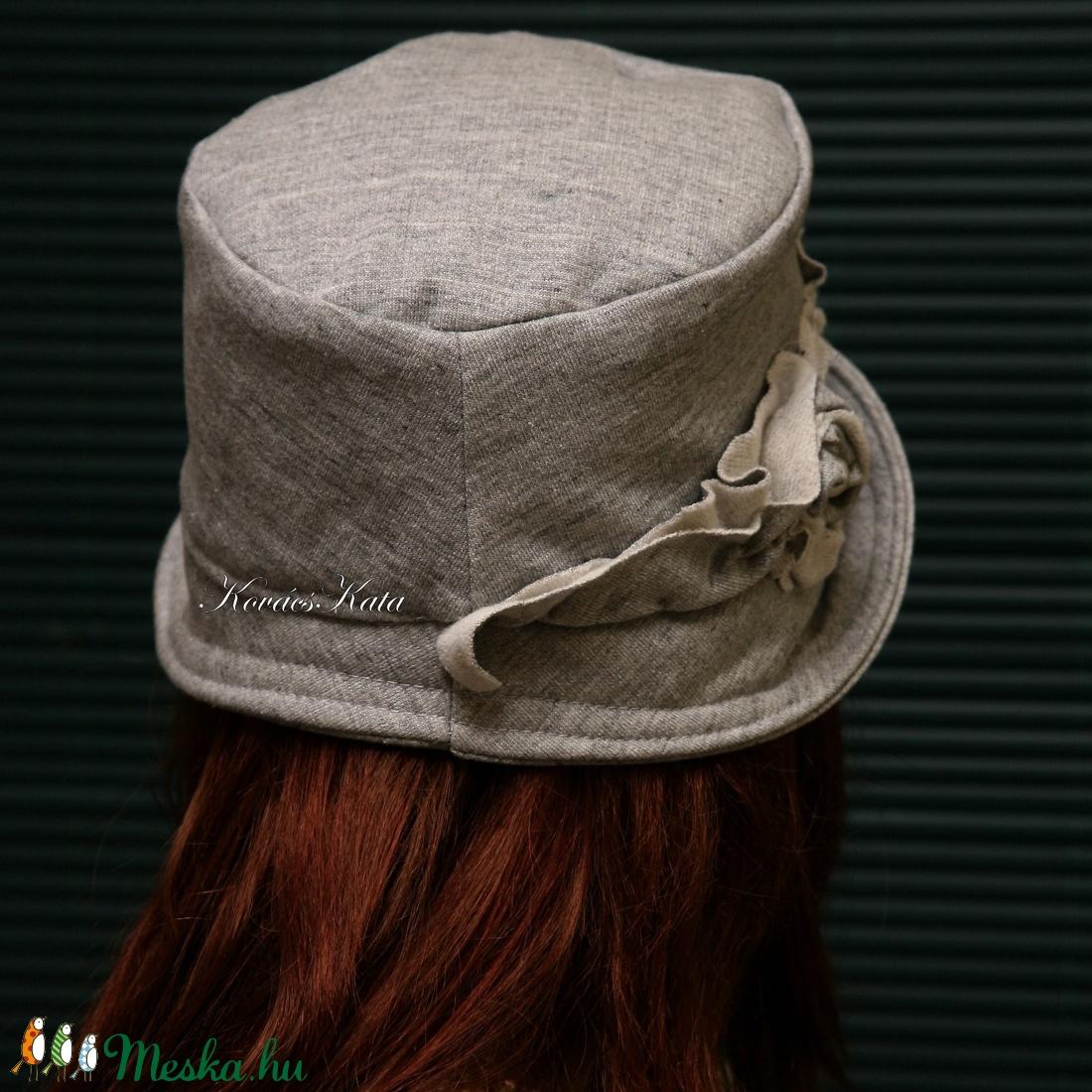 MARIE cloche - pamut-jersey flapper kalap - ruha & divat - sál, sapka, kendő - kalap - Meska.hu