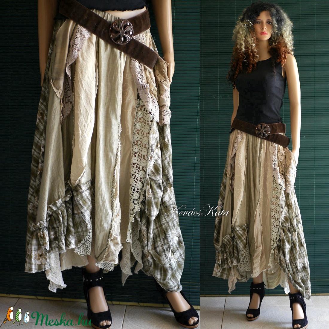BELINDA - extravagáns patchwork szoknya - ruha & divat - női ruha - szoknya - Meska.hu