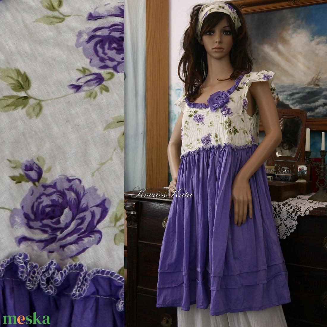 LILLA - baby-doll romantikus nyári ruha - ruha & divat - női ruha - ruha - Meska.hu