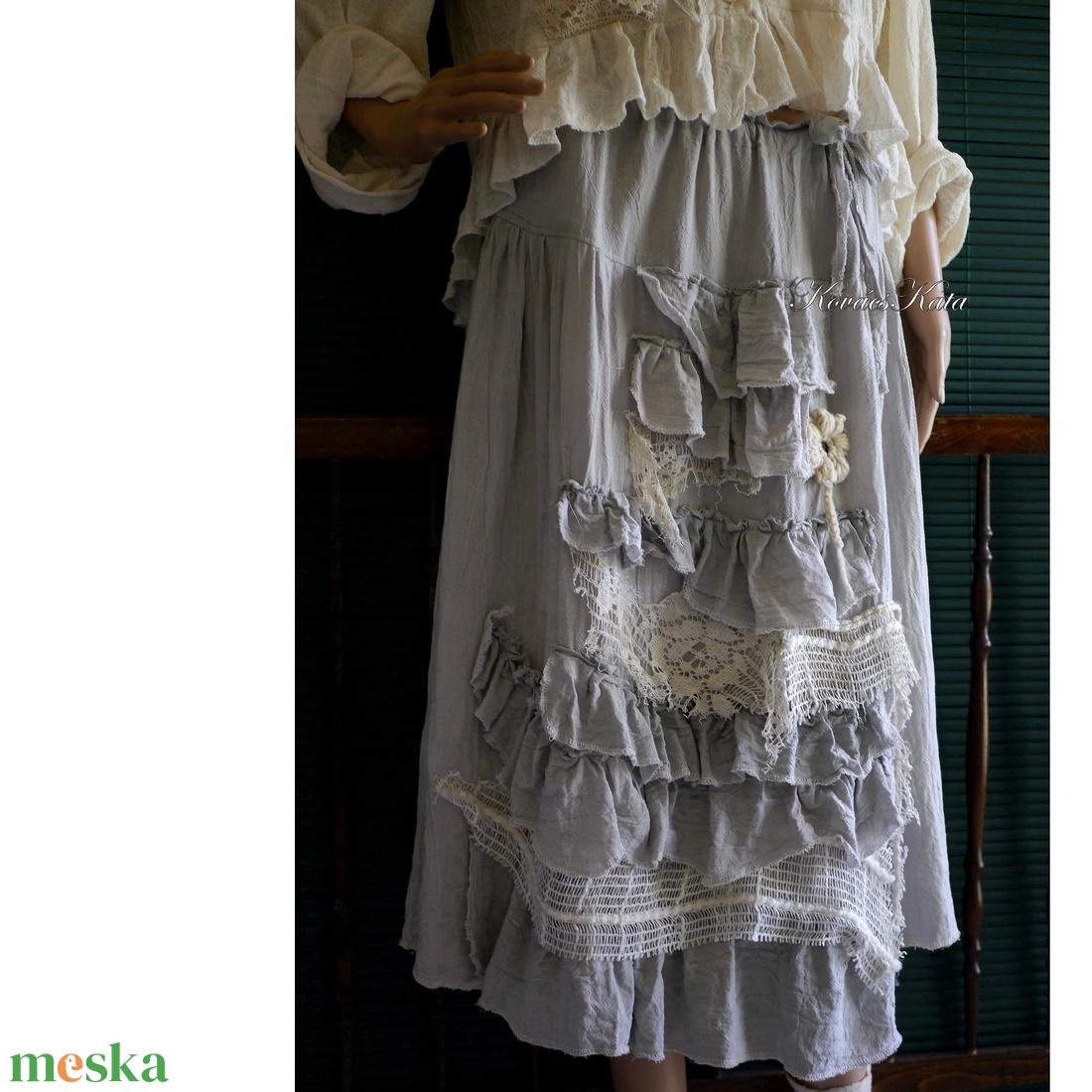 IRMA - bohém romantikus szoknya - ruha & divat - női ruha - szoknya - Meska.hu