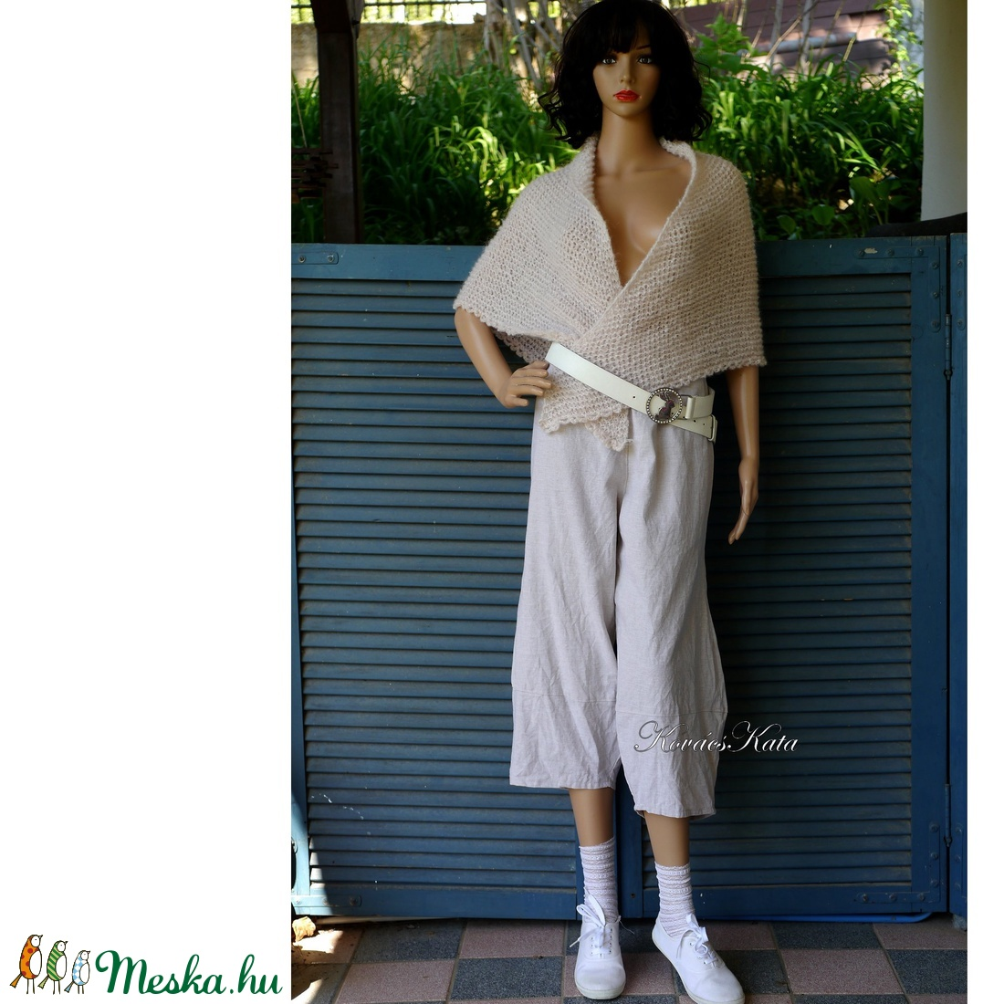 TULIPÁN-NACI - lenvászon lagenlook design nadrág  - ruha & divat - női ruha - nadrág - Meska.hu