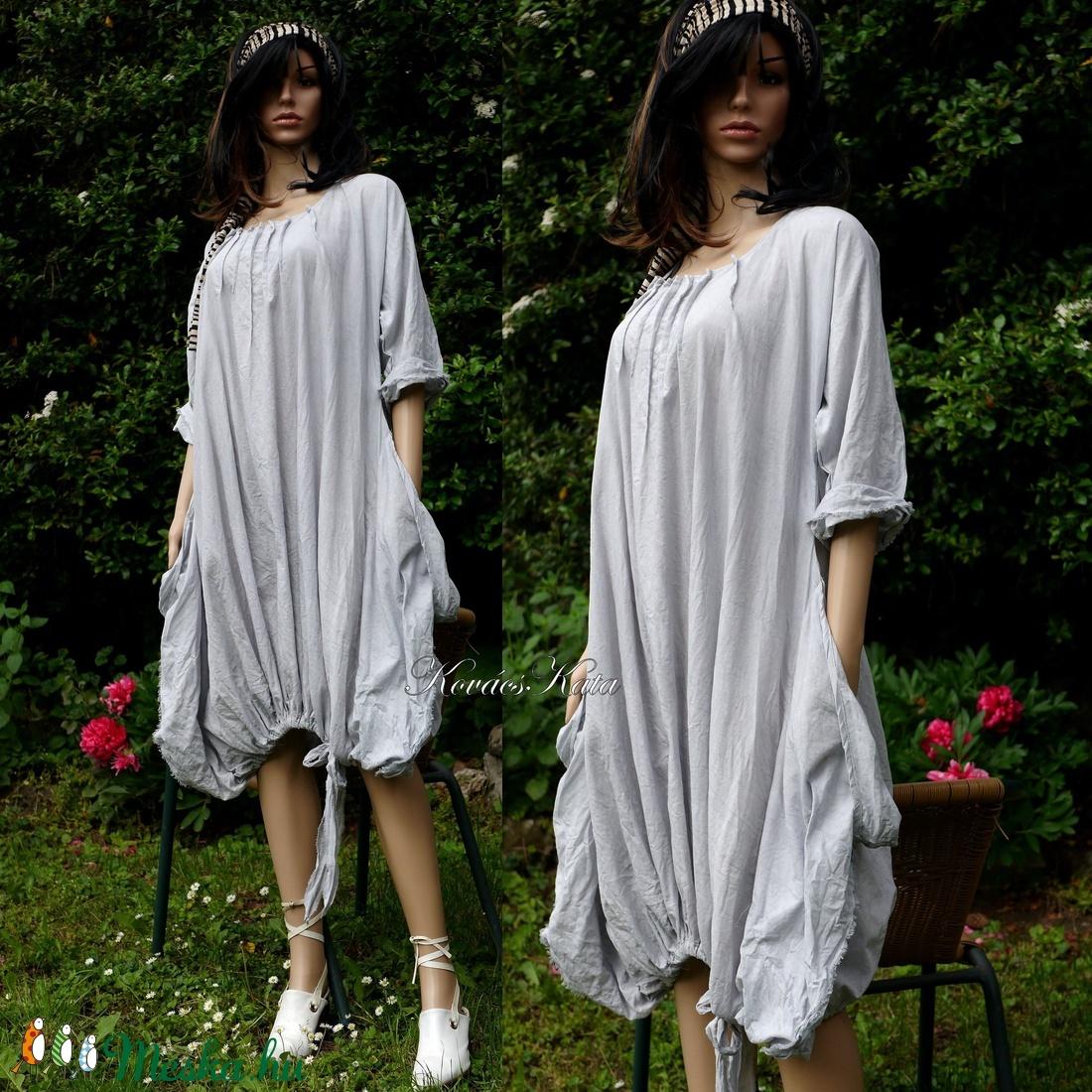 NICOLE/stone - extravagáns lagenlook tunika - ruha & divat - női ruha - tunika - Meska.hu