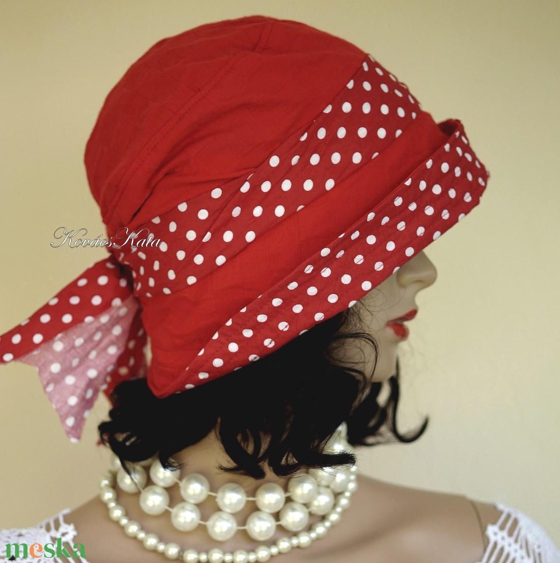 MALINKA - sikkes nyári vászon kalap - ruha & divat - sál, sapka, kendő - kalap - Meska.hu