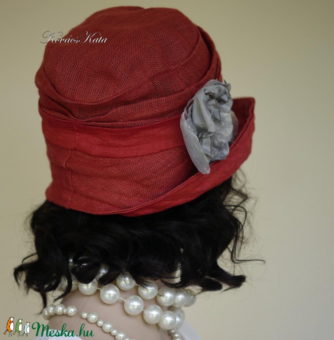 RÓZA - lenvászon design kalap S  - ruha & divat - sál, sapka, kendő - kalap - Meska.hu