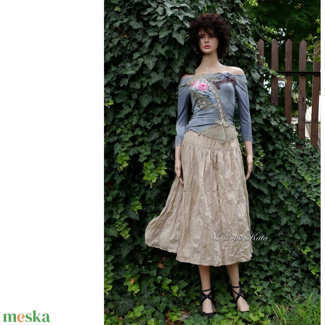 MICI-szoknya - azsúros puplinból - ruha & divat - női ruha - szoknya - Meska.hu