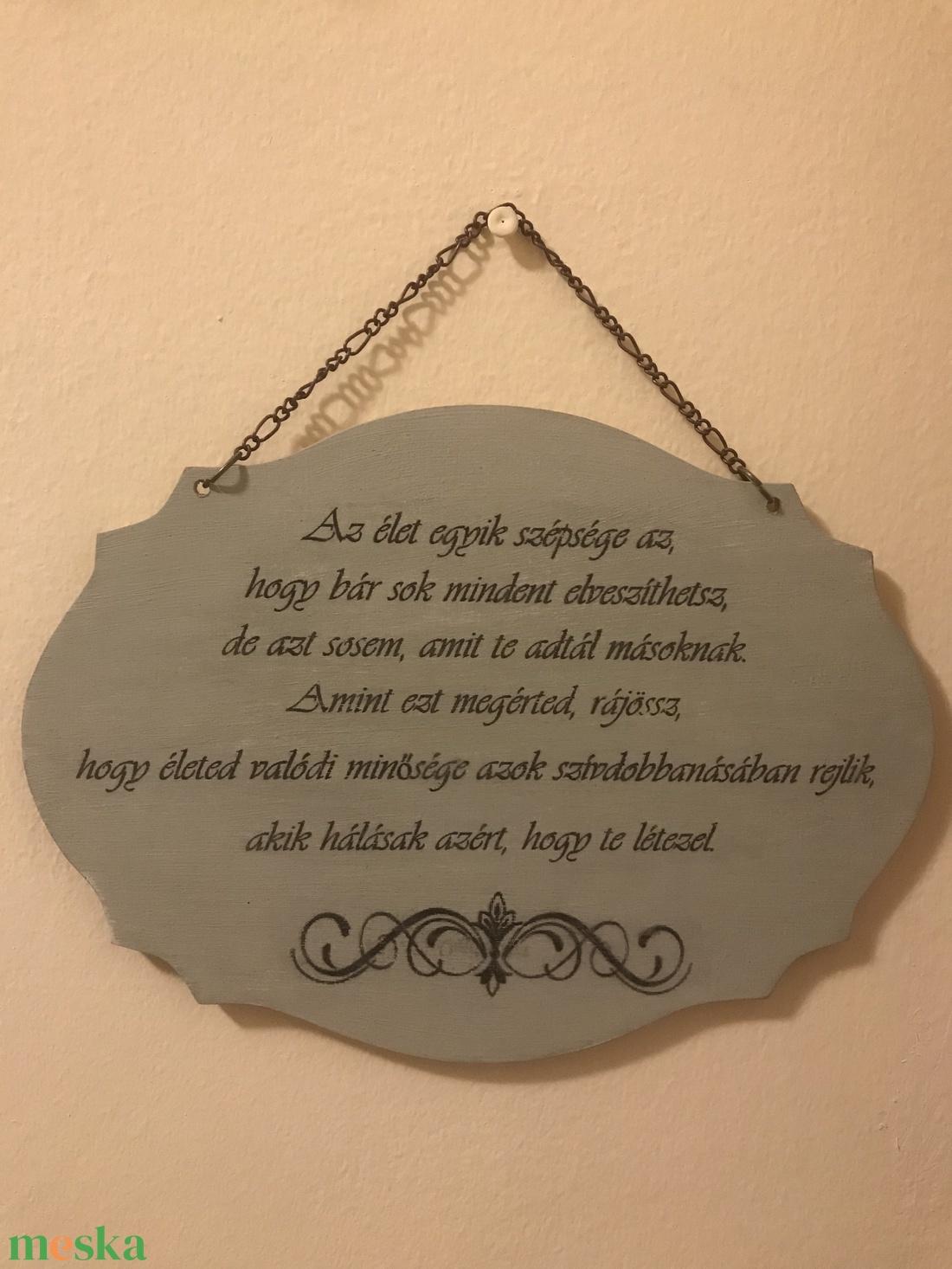 Idézetes fa tábla - Az élet szépsége az, hogy .... (butorlelek) - Meska.hu