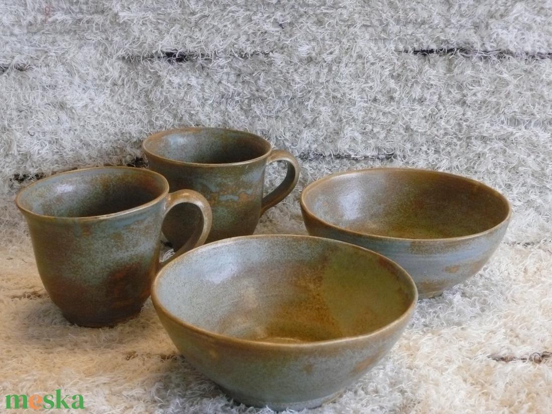 kőedény páros reggeliző készlet - otthon & lakás - konyhafelszerelés - tányér & étkészlet - Meska.hu