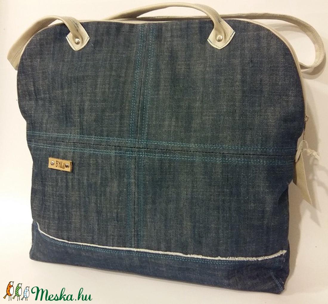 Táska farmervászon és bőr táska egyedi női táska (BYildi) - Meska.hu 6dd9c01708