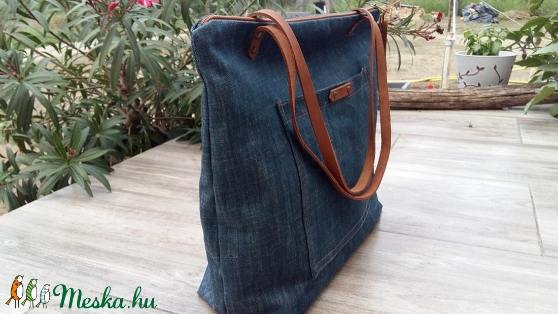 ... Vászontáska . bőrpántos táska Női táska Nagyméretű táska. pelenkázó  táska (BYildi) - Meska ... 5a27447561