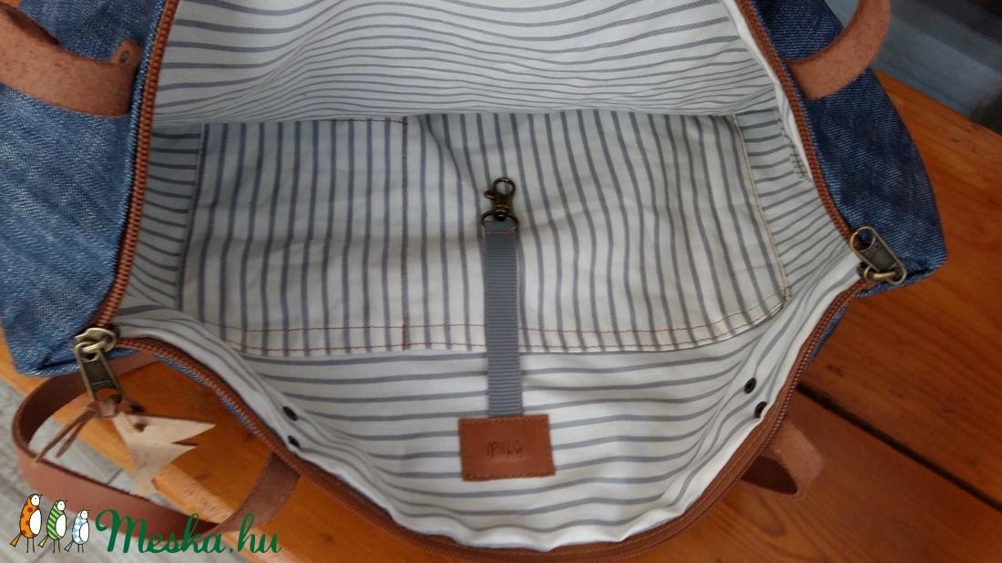... Vászontáska . bőrpántos táska Női táska Nagyméretű táska. pelenkázó  táska (BYildi) - Meska 72c329aeb8
