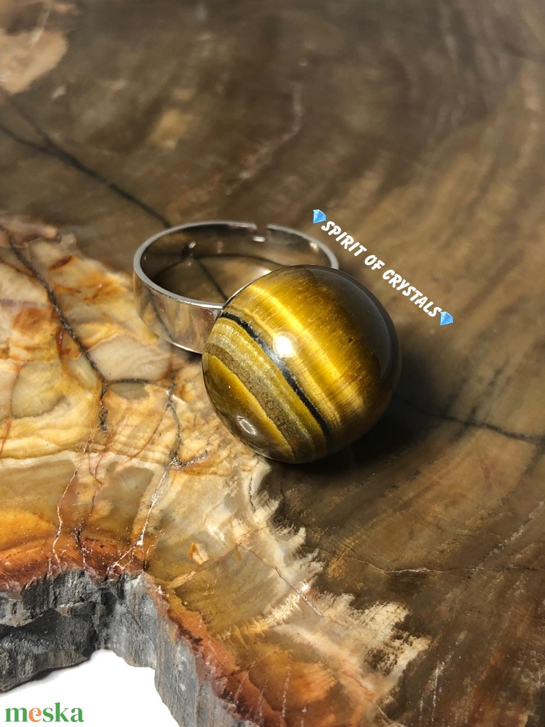 Tigrisszem NAGY bogyós gyűrű - ékszer - gyűrű - gyöngyös gyűrű - Meska.hu