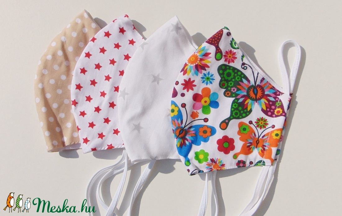 4 db/cs Szájmaszk csomag, textil szájmaszk, többször használható szájmaszk (ChristieHomemade) - Meska.hu