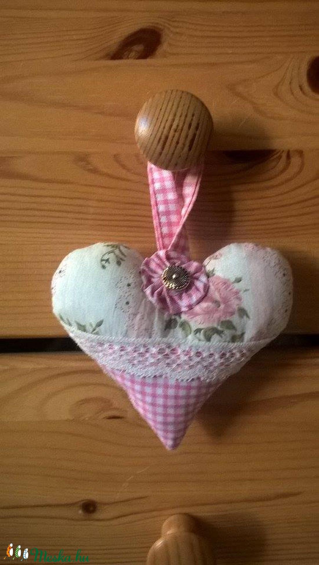 vintage hangulatú textil szív (cifraarny) - Meska.hu