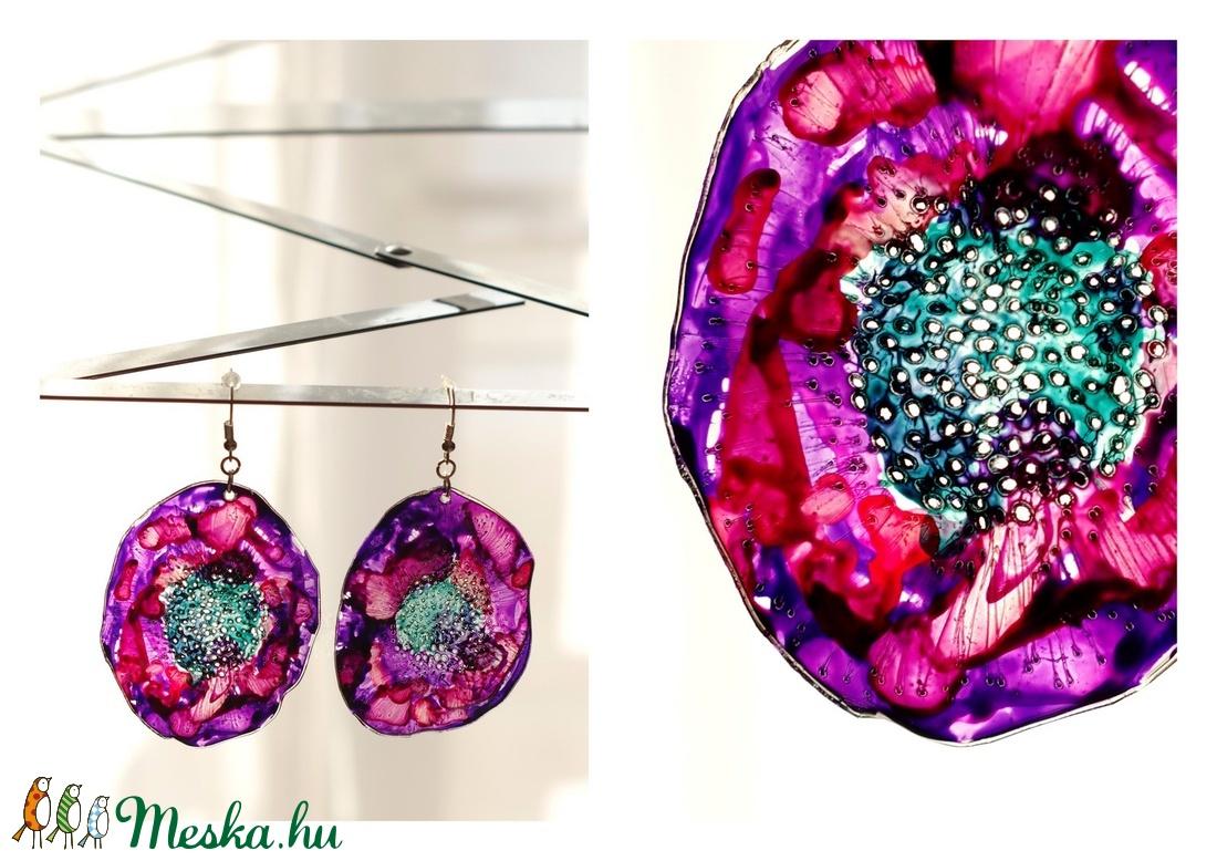 Plabodot Dandelion fülbevaló - lila/pink/piros/vízzöld (cirrhopp) - Meska.hu